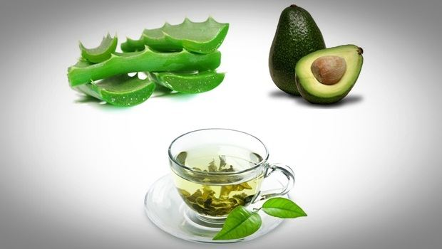 aloe vera face mask - avocado, green tea, aloe vera face mask