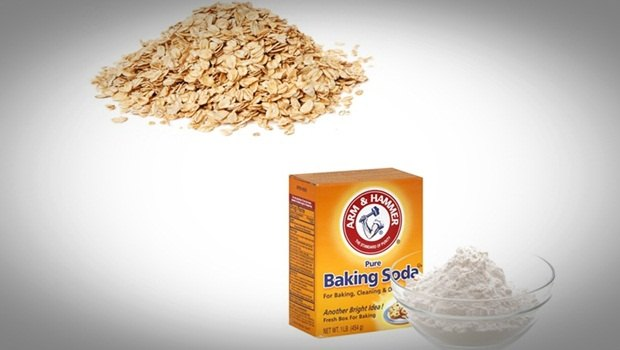 oatmeal face mask - baking soda and oatmeal face mask (for acne-prone skin)