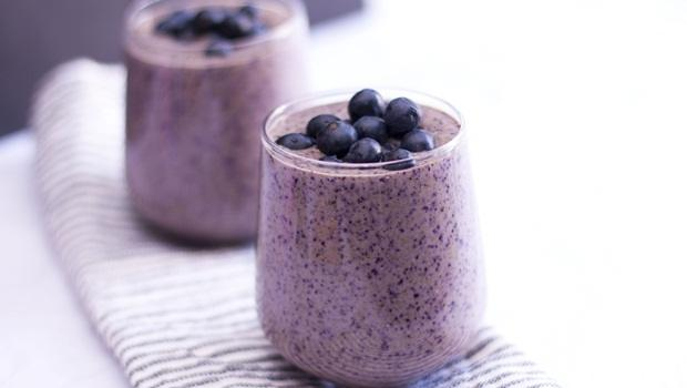 diet for good health - blueberry smoothie