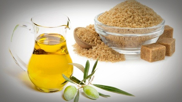 hair masks for frizzy hair -brown sugar, olive oil and essential oils