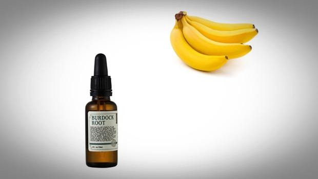 banana hair mask - burdock root oil and banana hair mask