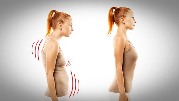 home remedies for double chin - good posture