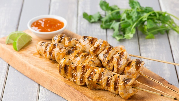 diet for good health - grilled chicken skewers