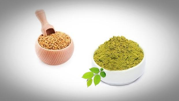 henna hair mask - henna and fenugreek seeds
