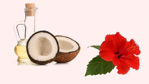 how to make hair thicker - hibiscus leaves and coconut oil