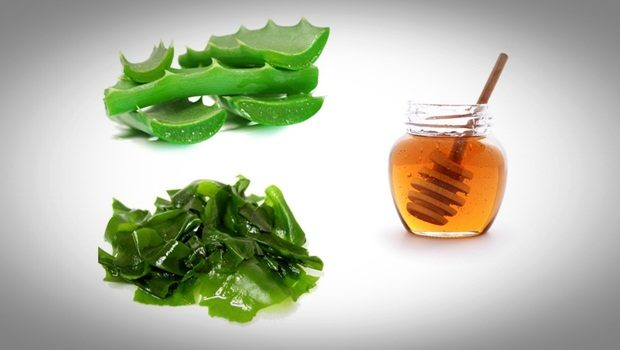 aloe vera face mask - honey, seaweed, aloe vera face mask