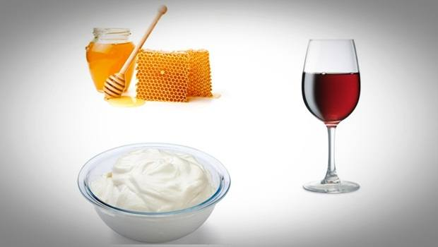 red wine face mask - honey, yogurt, and red wine face mask