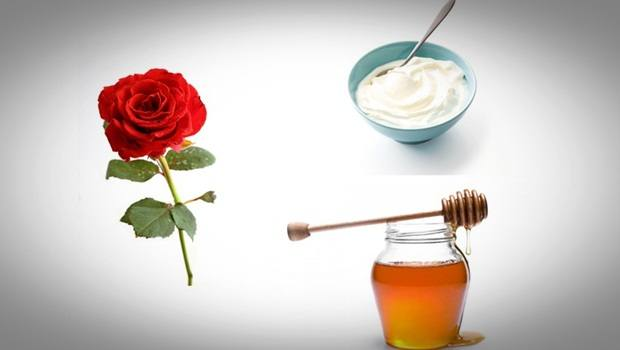 rose face mask - honey, yogurt rose face mask