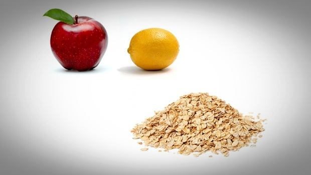 oatmeal face mask - lemon, apple and oatmeal face mask