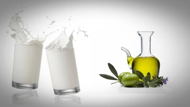 homemade facial moisturizer - milk and olive oil moisturizer