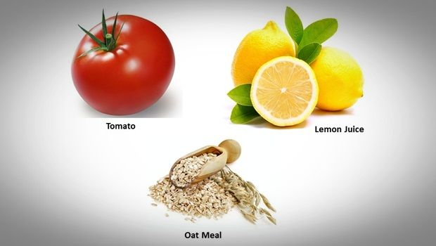 oatmeal face mask - oatmeal, lemon juice and tomato face mask