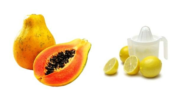 papaya face mask - papaya and lemon face mask for skin brightening