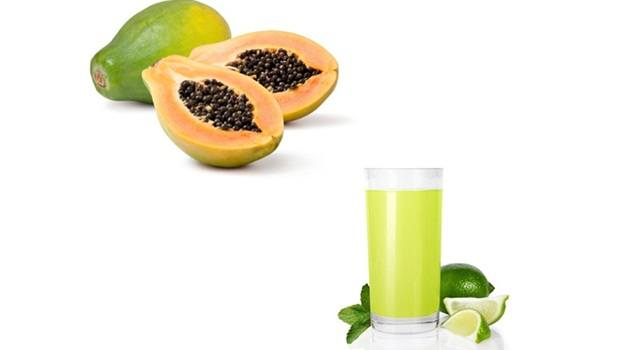 papaya face mask - papaya and lime juice face mask