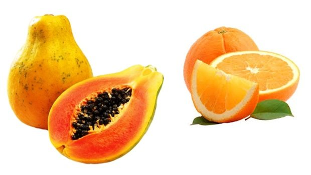 papaya face mask - papaya and orange face mask for oily skin