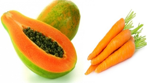 papaya face mask - papaya carrot face mask
