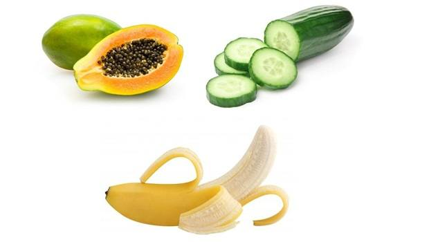 papaya face mask - papaya, cucumber, and banana for impeccable skin