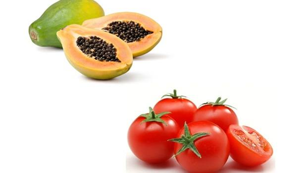 papaya face mask - papaya face mask with tomato for marks