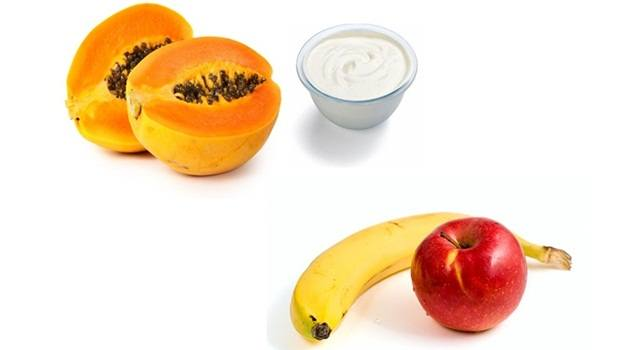 papaya face mask - papaya face mask with yoghurt, apple and banana