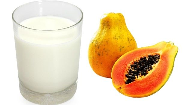 papaya face mask - papaya milk lightening facial pack