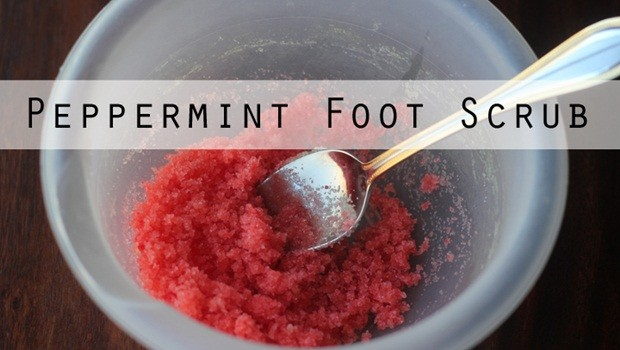 foot scrub recipe - peppermint foot scrub recipe