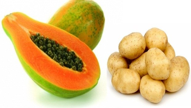 papaya face mask - potato papaya face mask