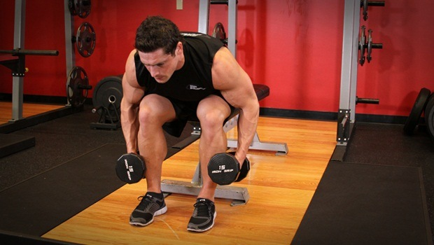 dumbbell exercises for shoulders - rear deltoid bent-over