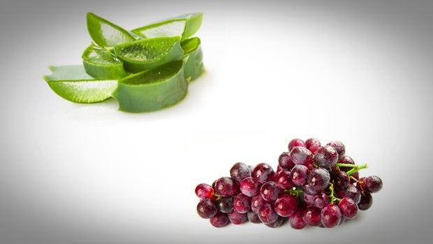 aloe vera face mask - red grapes and aloe vera