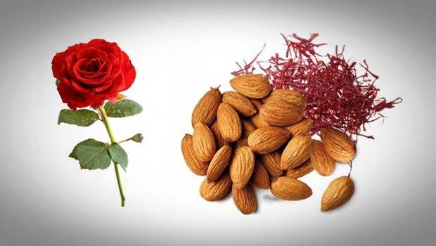 rose face mask - rose, almonds and saffron face mask