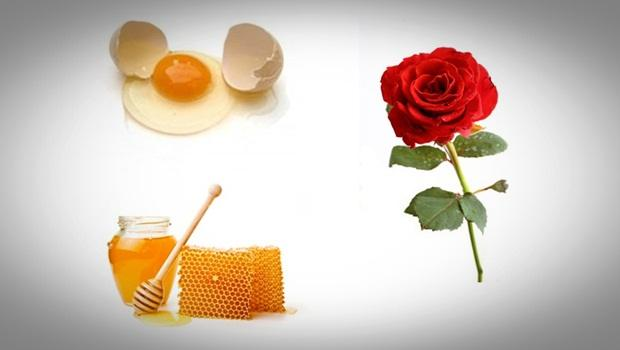 rose face mask - rose, honey and egg skin anti aging facial mask