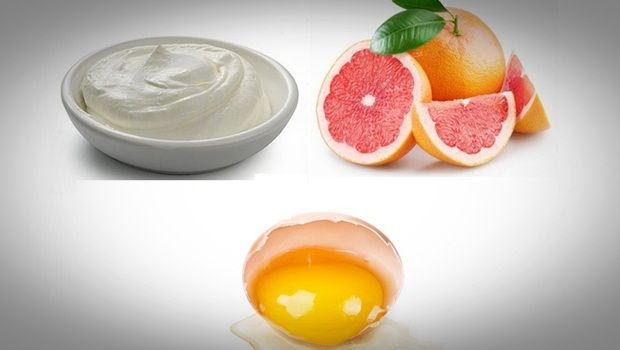 egg white face mask - sour cream, grapefruit egg white face mask