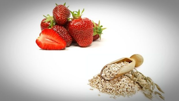 oatmeal face mask - strawberry and oatmeal face mask