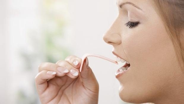 home remedies for double chin - sugar-free chewing gum