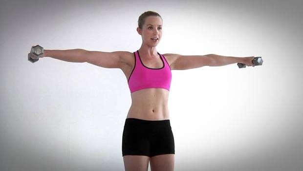 dumbbell exercises for shoulders - the second lateral raise exercise