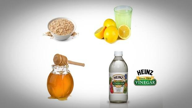 oatmeal face mask - white vinegar, lemon, honey and oatmeal face mask
