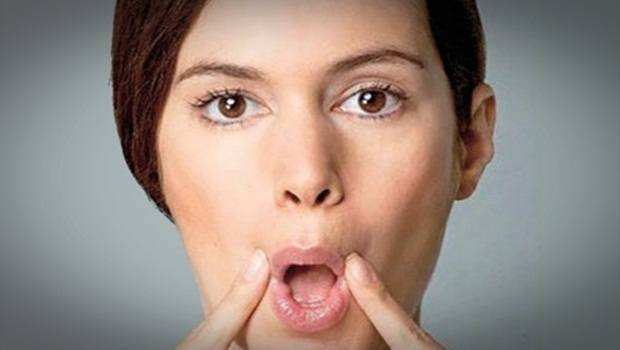 facial muscle exercises - air circulation in mouth exercise