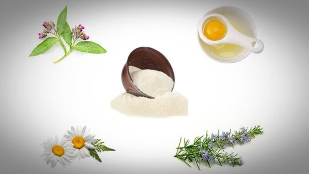 anti aging face mask - comfrey, chamomile, rosemary, white clay and egg white anti aging face mask