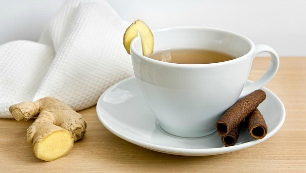 ginger for morning sickness-ginger tea and fresh ginger root