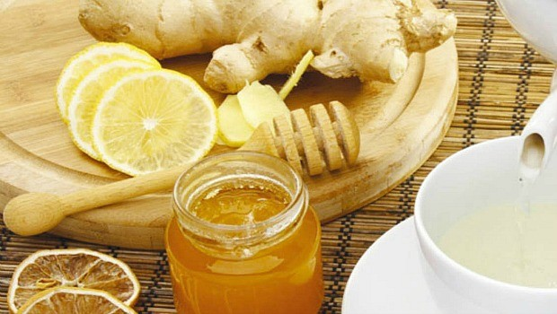 ginger for morning sickness-ginger tea with honey and lemon