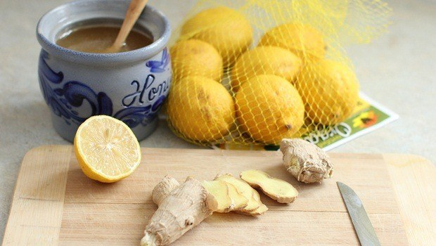 ginger for flu - ginger with lemon and honey