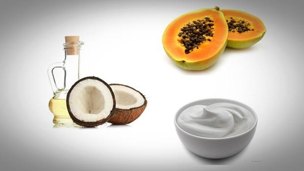 anti aging face mask - greek yogurt, coconut oil and papaya