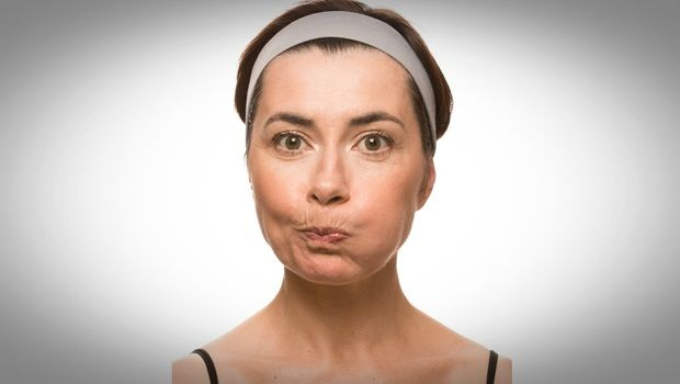 facial muscle exercises - inflating cheeks
