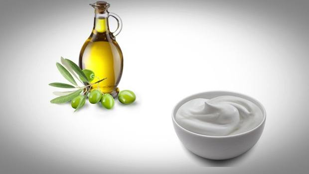 anti aging face mask - olive oil and yogurt mask