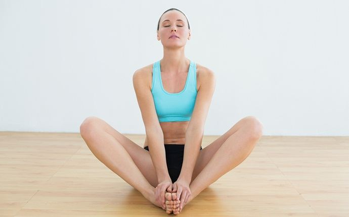 yoga poses for pcos - badhakonasana (butterfly pose)