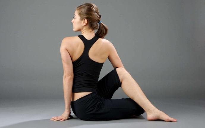 yoga poses for pcos - bharadvajasana (or bharadvaja's twist)