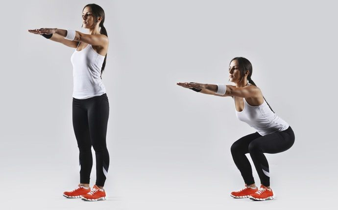 how to cure backache - body squat