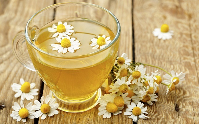 how to cure backache - chamomile tea