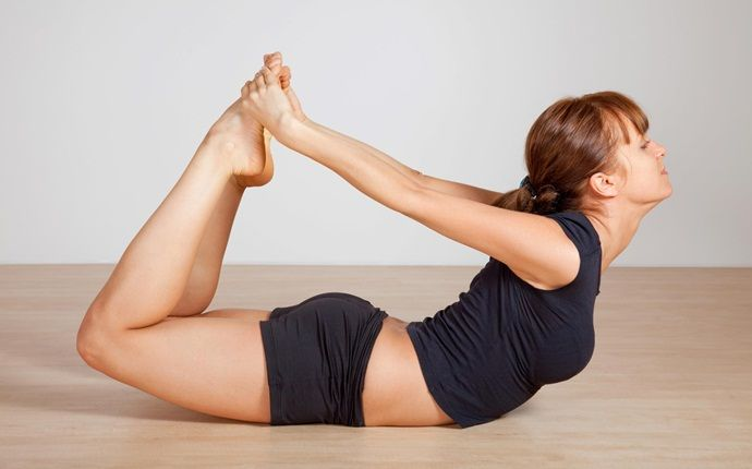 yoga poses for pcos - dhanurasana (bow pose)