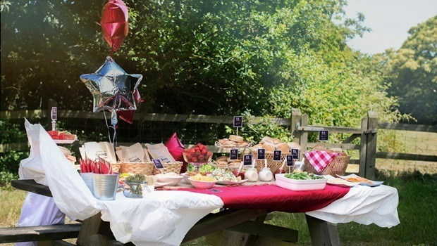 birthday party themes for adults - outdoor bbq birthday party theme