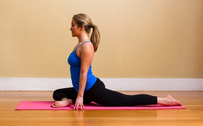 how to cure backache - pigeon pose
