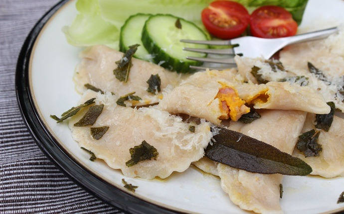 low calorie diet for weight loss - squash plus pocket pasta aka ravioli